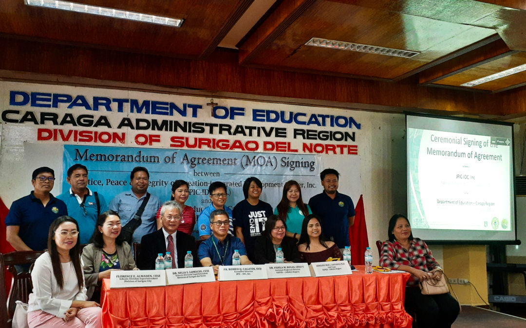 MOA between JPIC-IDC, Inc and Department of Education (DepEd) – CARAGA Region